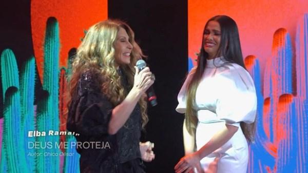 """Elba Ramalho rasga elogios à Juliette: """"Ela chegou como um gerador de energia para a música e para a arte"""""""