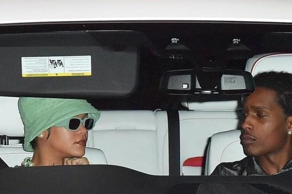 Rihanna e A$AP Rocky saindo de um estúdio em Nova York - Foto: Reprodução