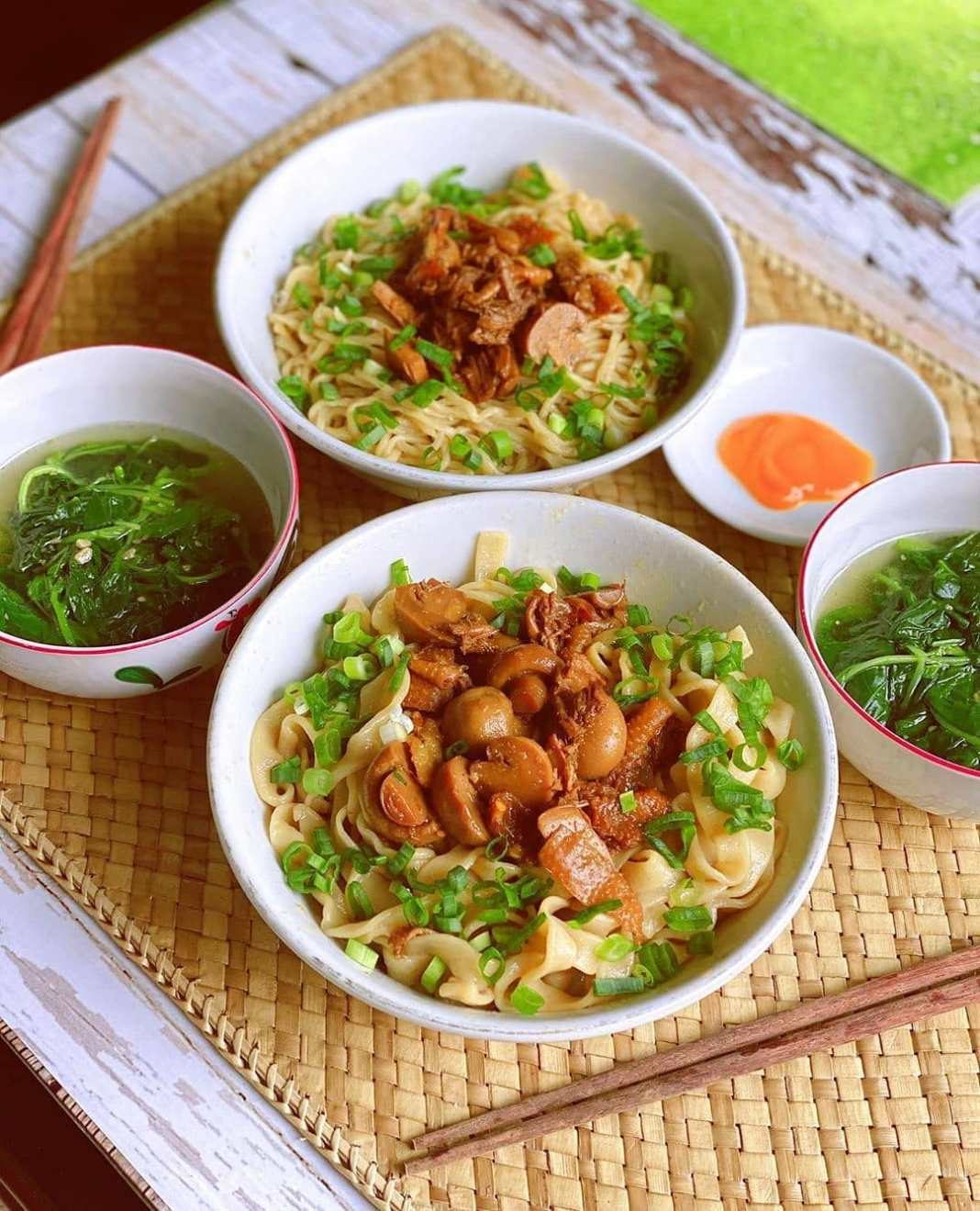 .  Happiness is in a bowl of #MieAyam  Have a happy lunch too ya Friends   .  . ...