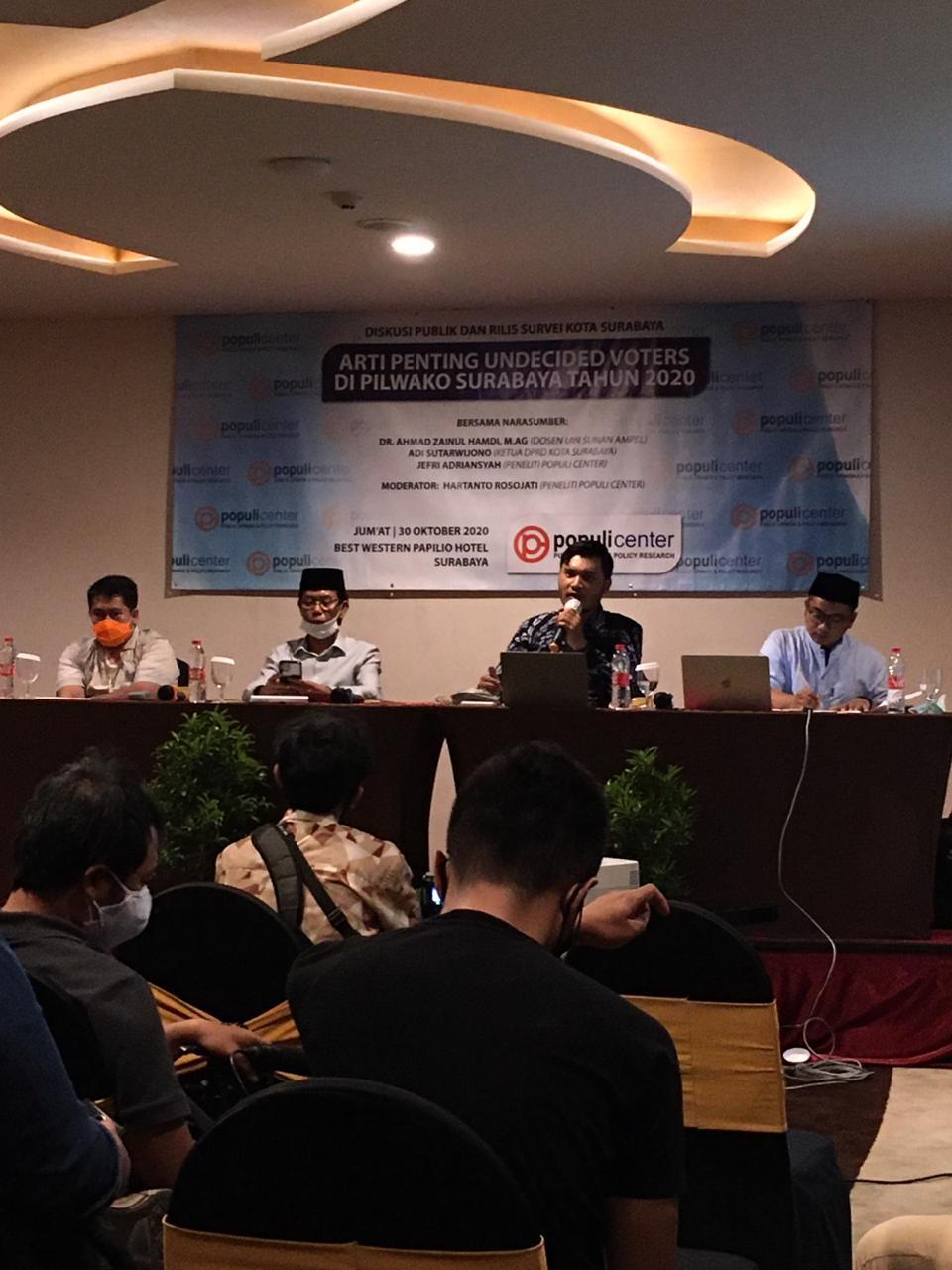PSI: Baru Sebulan Kampanye, Eri Cahyadi Sudah Ungguli Machfud Arifin