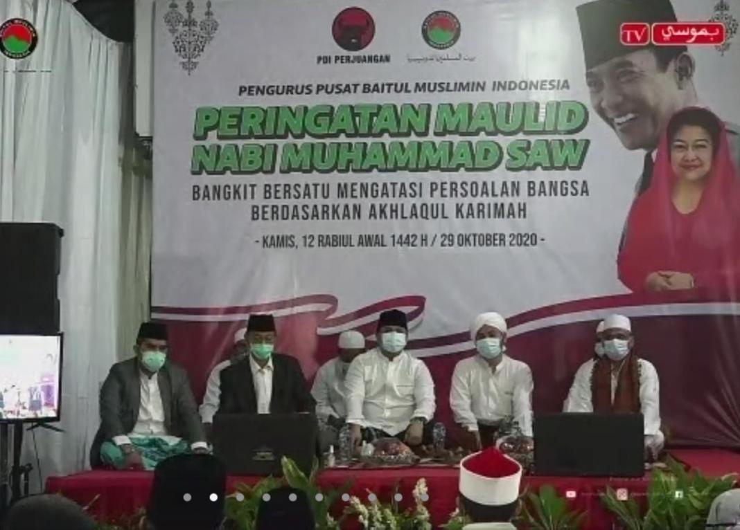 Peringati Maulid Nabi, Baitul Muslimin PDIP Ingatkan Pentingnya Persatuan