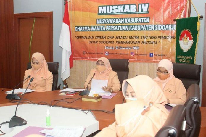 1604416189 127 DWP Kabupaten Sidoarjo Gelar Muskab IV Secara