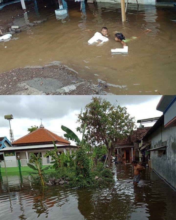 Kedung banteng tangguoangin kembali di rendam banjir setalah hujan yang turun beberapa hari ini...