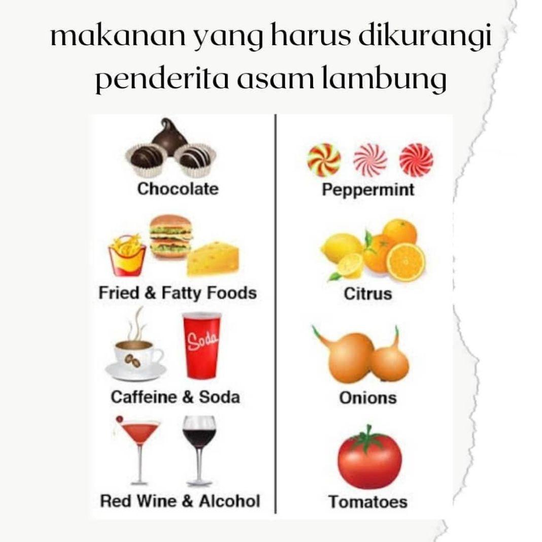 Info sehat, Anda penderita asam lambung? Kurangi konsumsi makanan di atas supaya asam lambung tidak kambuh …