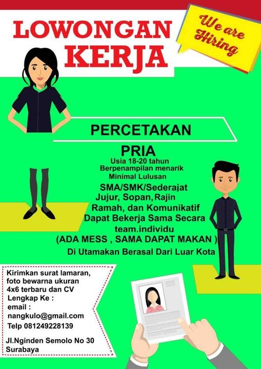 Lowongan Kerja Di Percetakan Digital Printing Surabaya Bagian Operator Komputer Fotocopy Di Portal Berita Sidoarjo