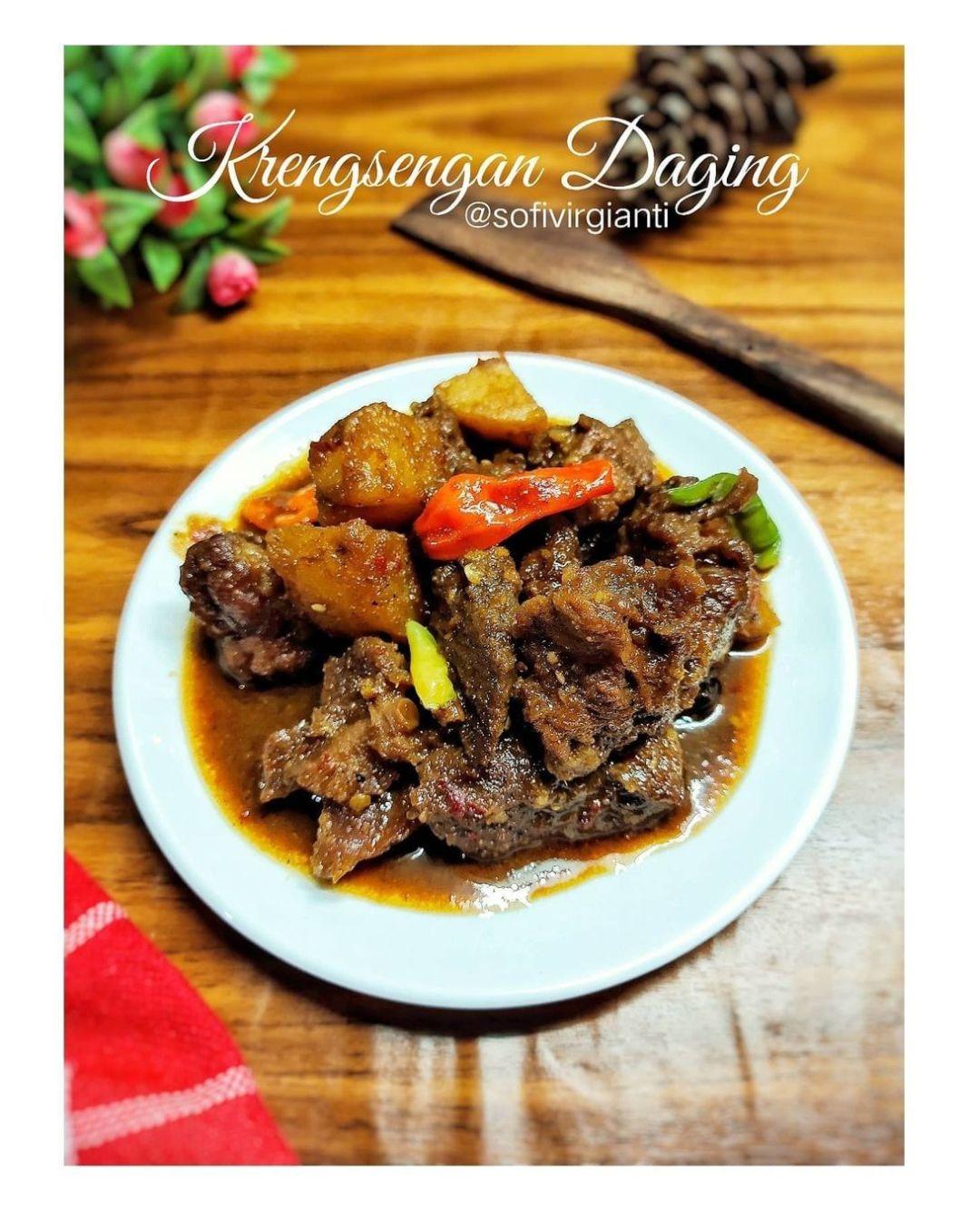Info kuliner, KRENGSENGAN DAGING Makanan bergizi untuk buka puasa serta sahur  Bahan : 300 gr Daging has sapi 3 …