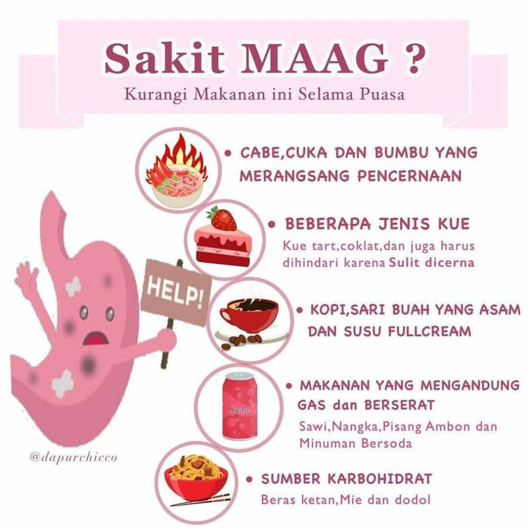 Info sehat, • • • • • • Bagaimana supaya penderita maag tetap sehat serta bugar menyelesaikan puasa Ramadan? P…