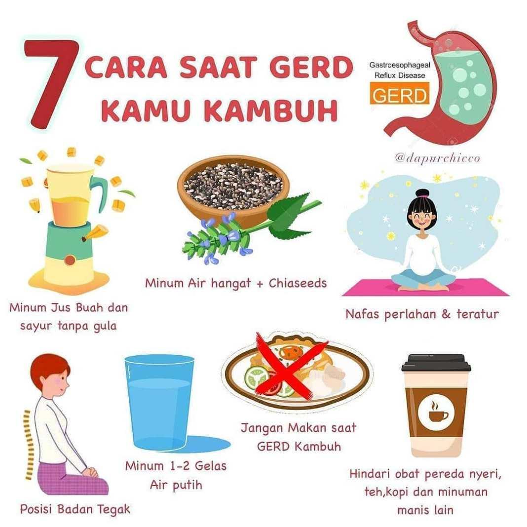 Info sehat, Apa Saja Penyebab GERD?  1. Makan makanan yang pedas berminyak, mengandung tinggi gula serta baha…