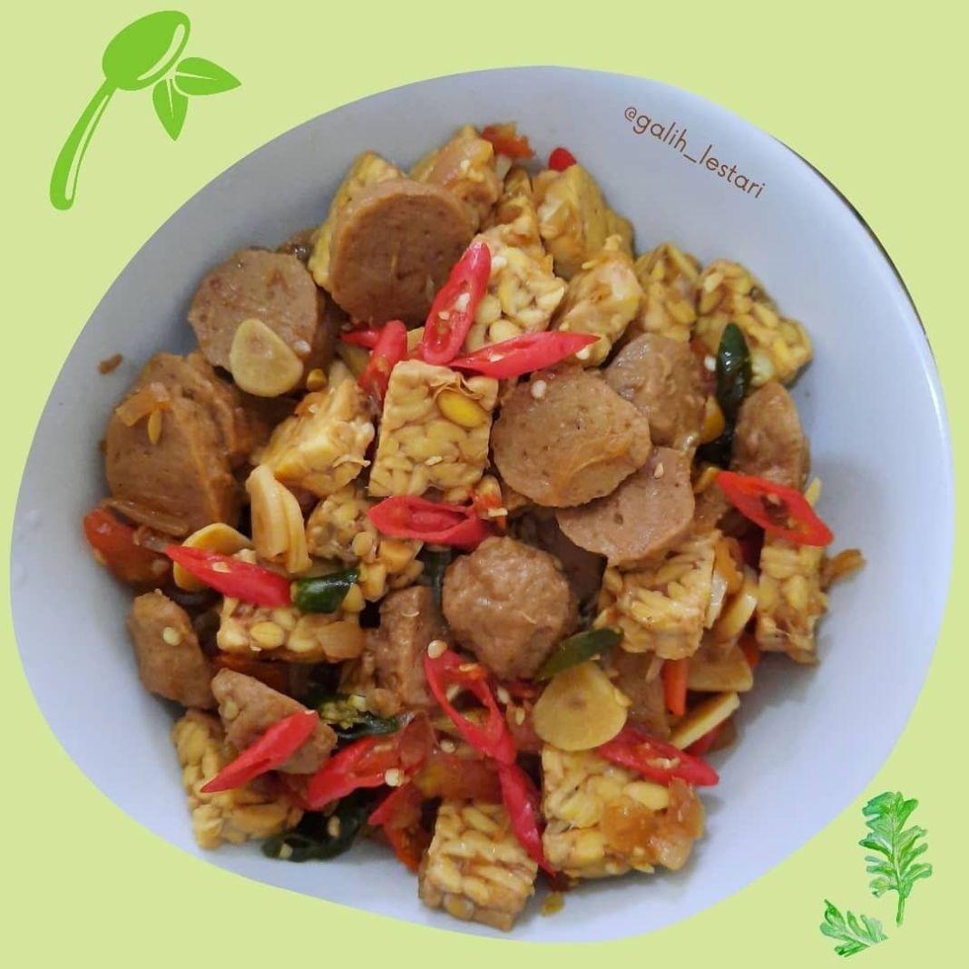 Info kuliner, KERING TEMPE BASAH Menu simpel serta praktis  Bahan : 1/2 papan Tempe 10 biji Bakso Sapi 5 Cabai …