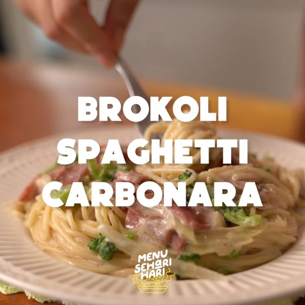 Info kuliner, Brokoli Spaghetti Carbonara Ide menu spaghetti baru nih!  Bahan: 80gr Spaghetti 2sdt Butter 1/2…