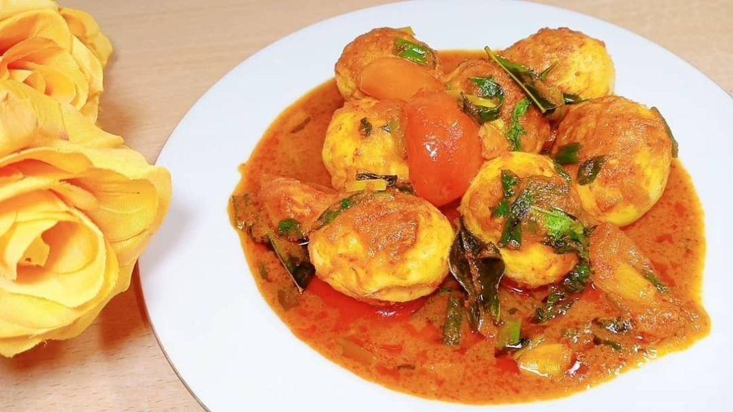 Info kuliner, TELUR WOKU  BAHAN : – 7 butir telur rebus – 2 genggam kemangi  BUMBU AROMATIK : – 3 lembar daun…