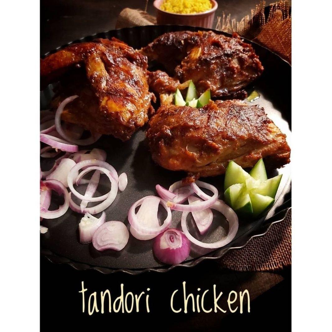 Info kuliner, Ayam bumbu india…rasa rempah2 bki mkn nasi jd byk. Tandori chicken _______€€€ Bahan 1 ekor ay…