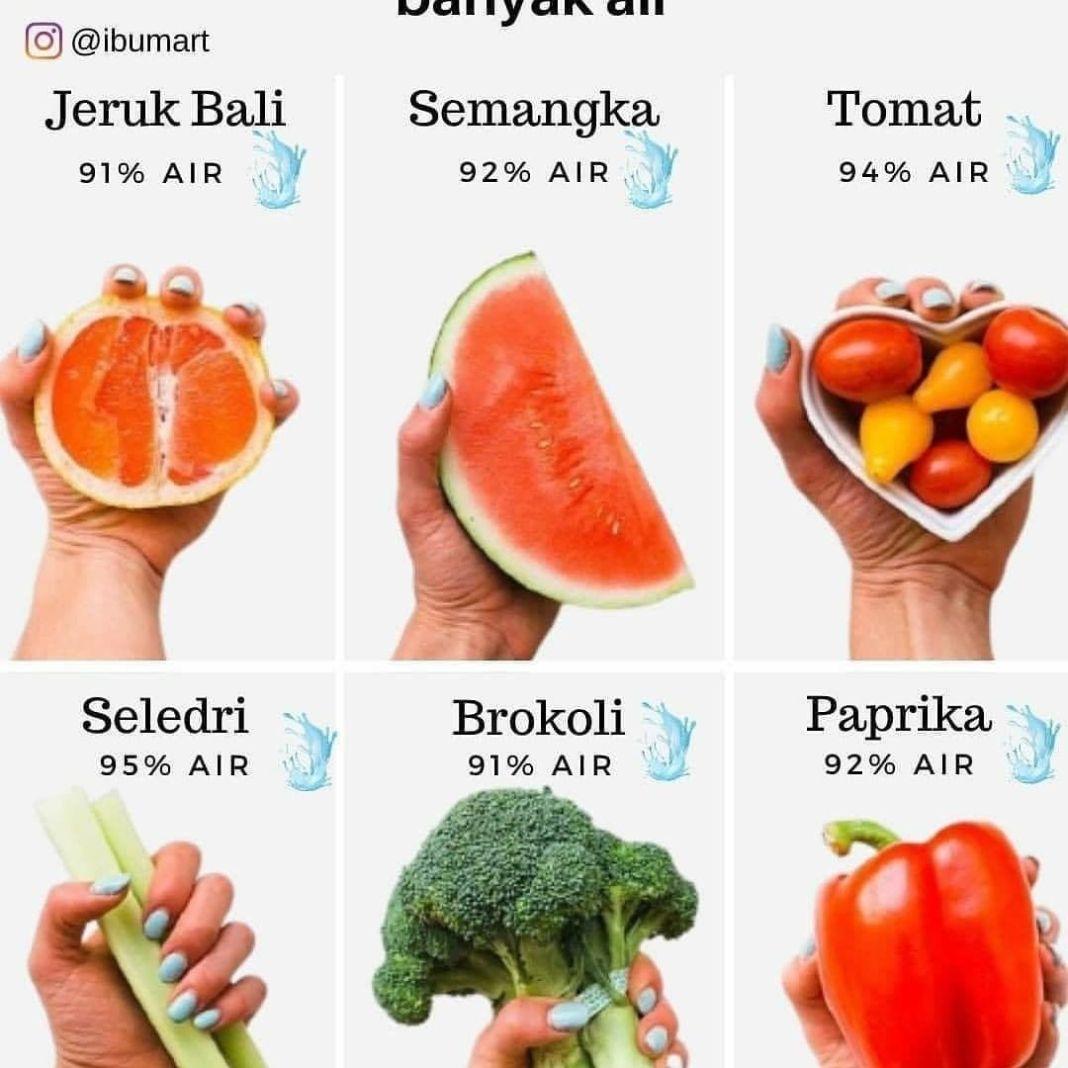 Info sehat, Yang mana kesukaanmu? Jika sobat dehidrasi, selain minum air putih cobalah konsumsi buah & say…