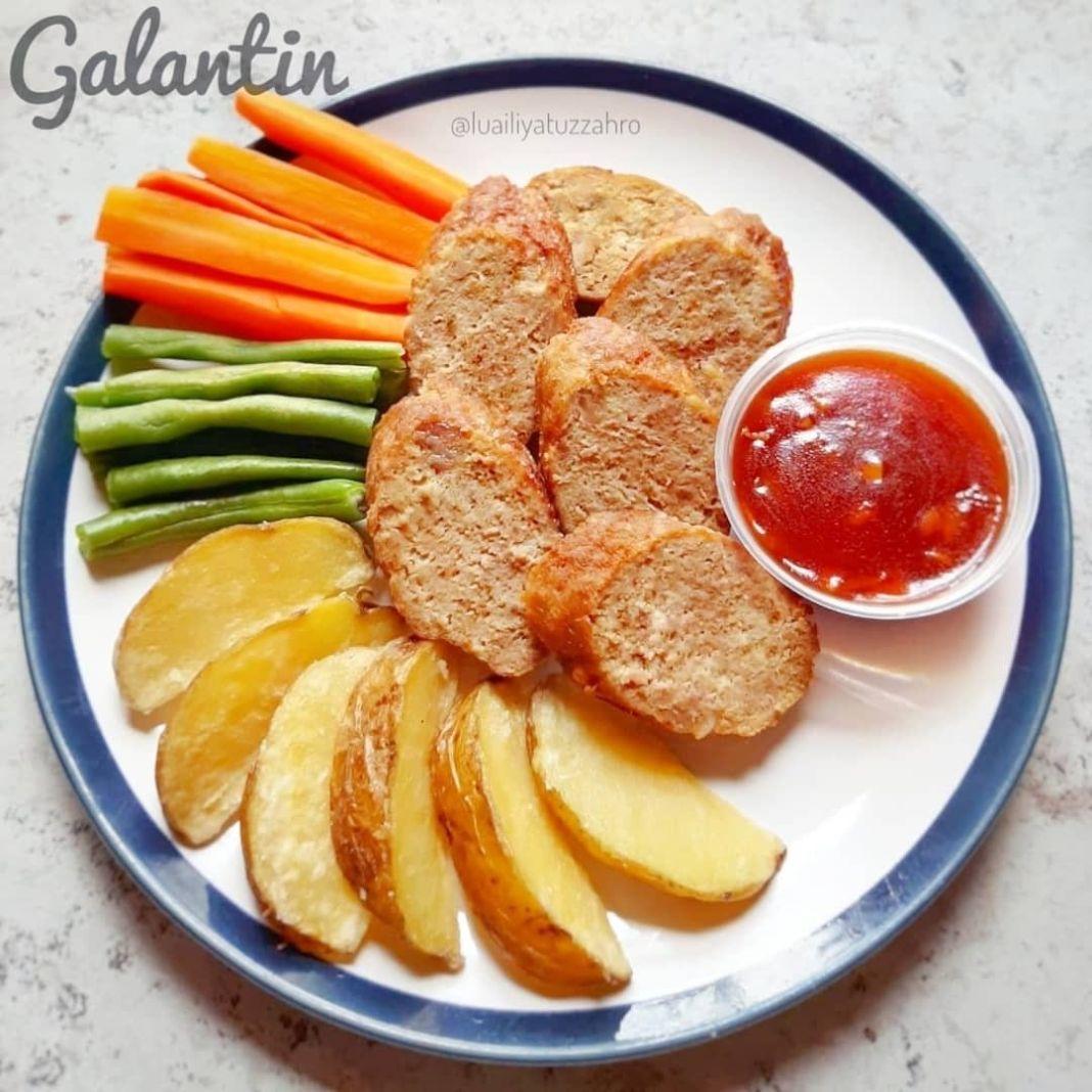 Info kuliner, ~ GALANTIN ~ made by: @luailiyatuzzahro . Bahan Galantin: • 500 gr daging sapi, giling • 4 siun…