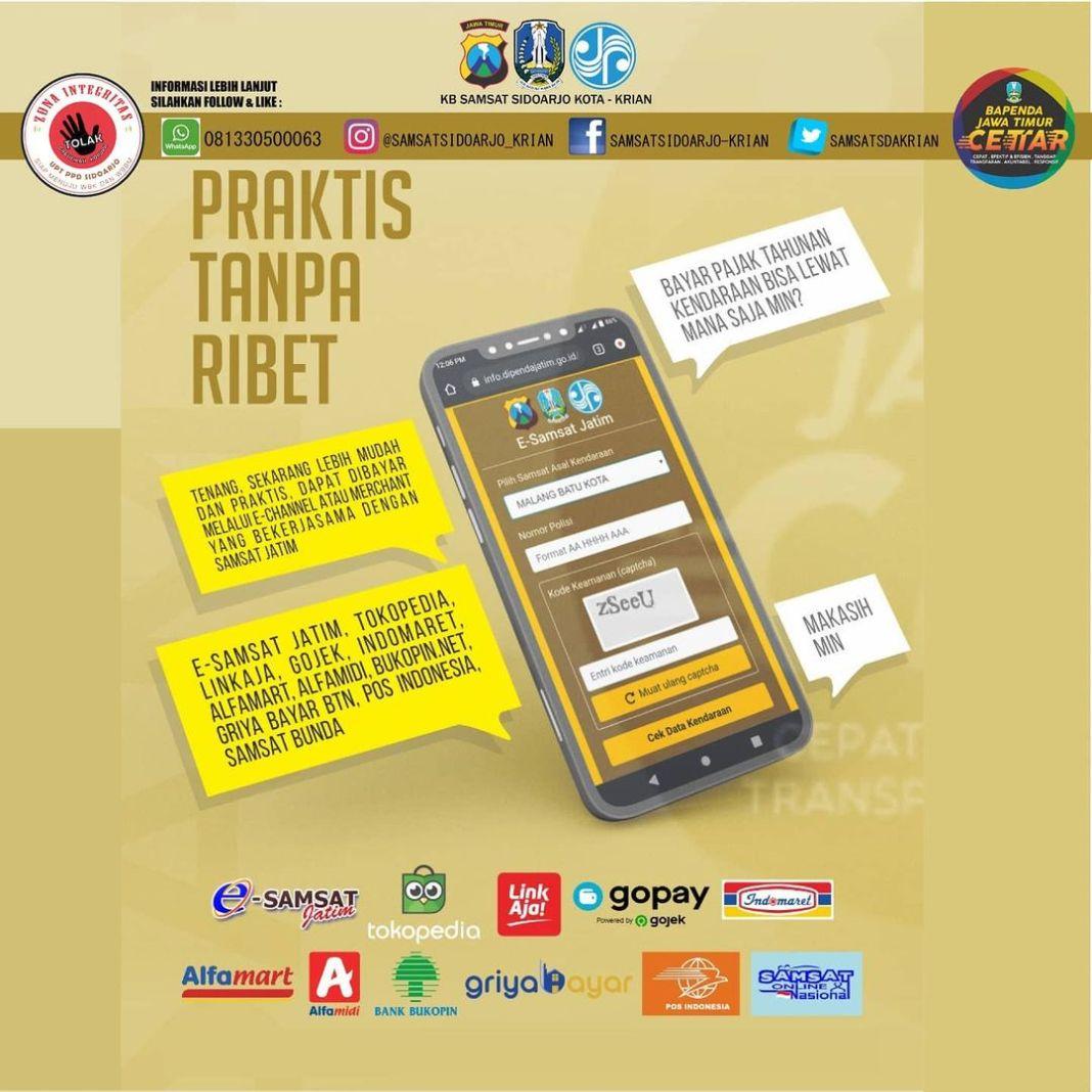 Sobat Wajib Pajak Jatim, untuk pembayaran pajak kendaraan bermotor tahunan di Jawa Timur selama…