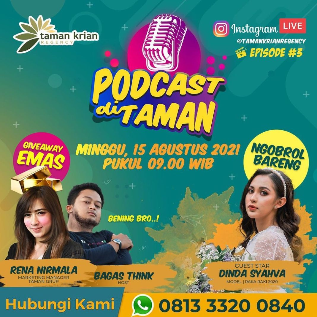 Yang rindu podcast Taman Krian Regency, yuk merapat… disebabkan Episode ke 3 akan segera hadir ke…