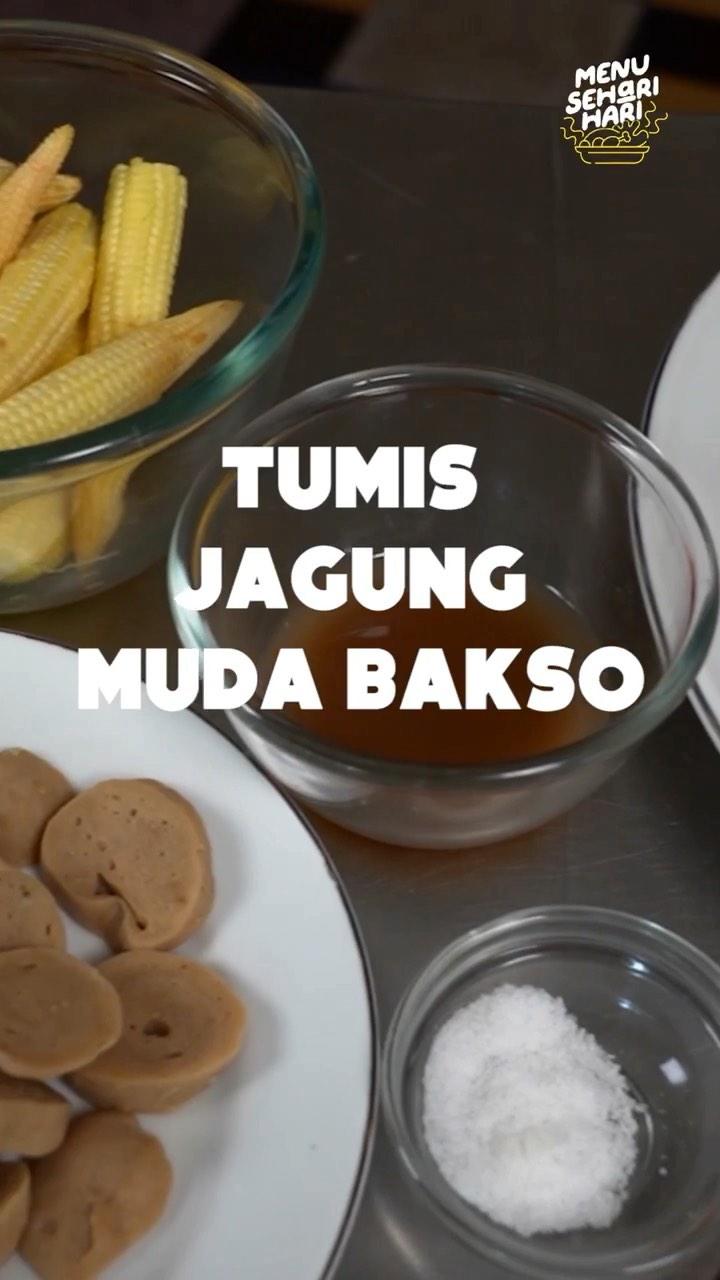 Info kuliner, Tumis Jagung Muda Bakso  Hi Moms Menu makan siang hari ini apa nih moms? kita untuk tumis jagung…