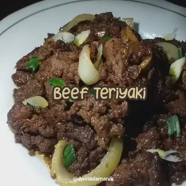 Info kuliner, BEEF TERIYAKI Pertama kali masak daging sapi nih!supaya dagingnya lembut, temen temen dapat pipi…