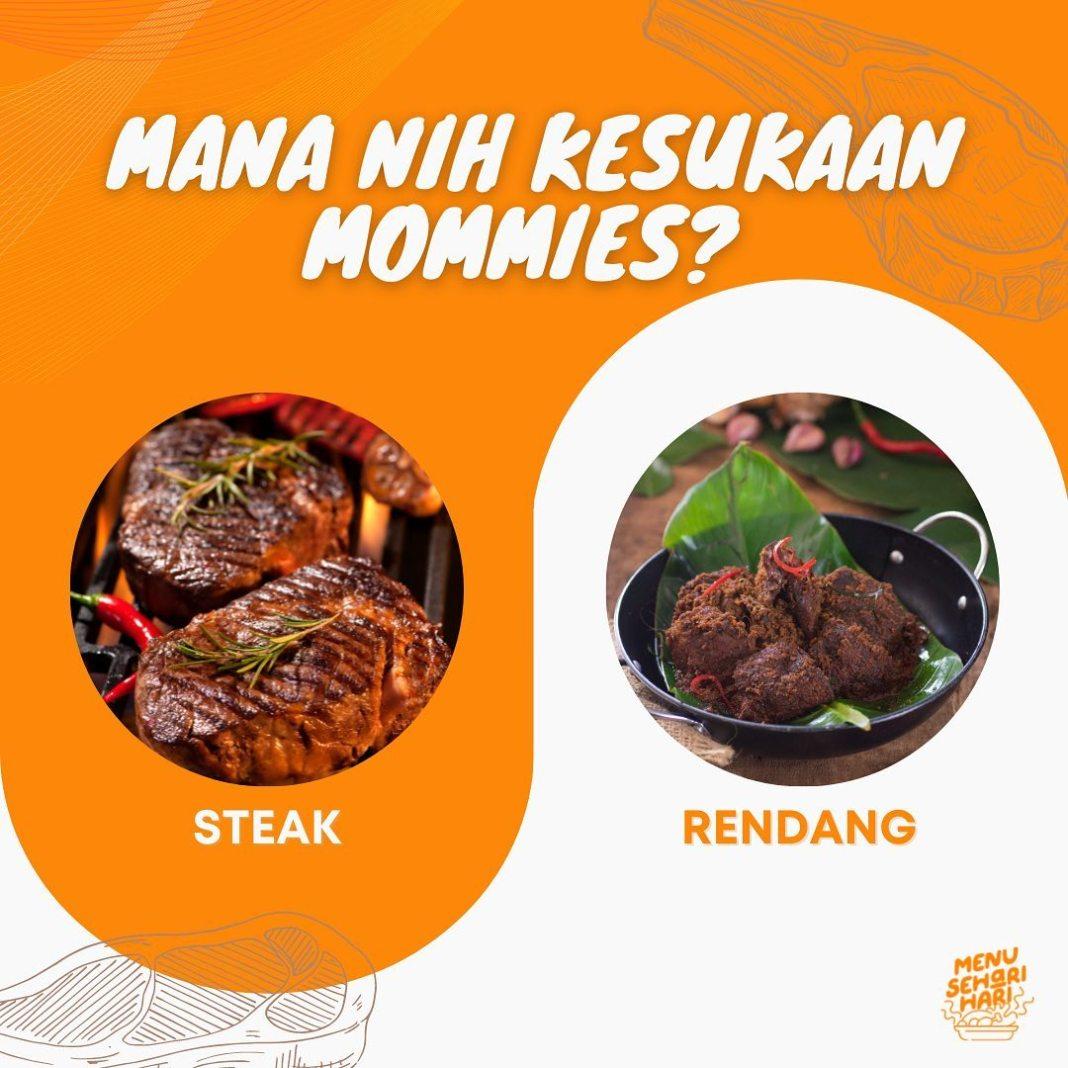 Info kuliner, Dua-duanya bikin galau sih hmmm pilih yang mana yahhh, steak pake bumbu rendang aja boleh gak K…