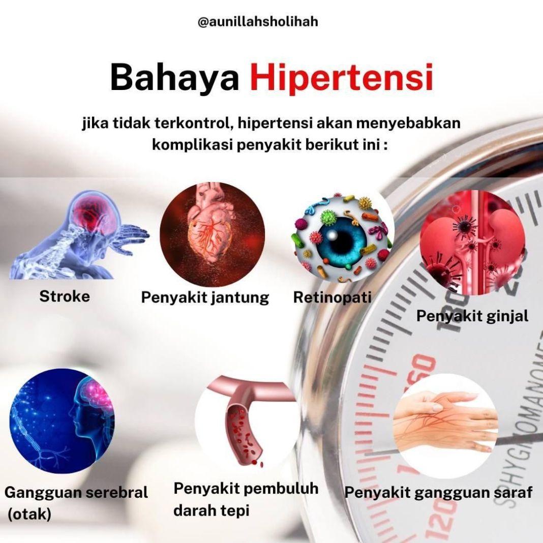 Info sehat, Hati-hati dengan hipertensi Hipertensi salah satu penyakit degeneratif yg menjadi penyebab keja…