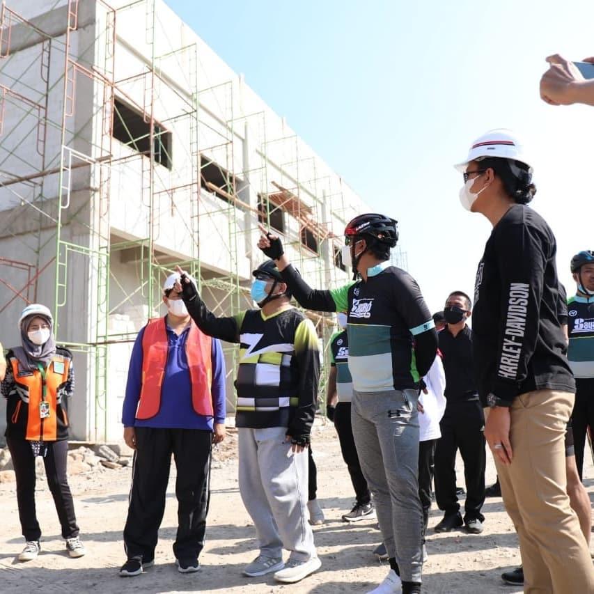 Pembangunan RSUD Sidoarjo Barat (Sibar) sudah mencapai 31 persen. Progres itu sudah melampaui t…