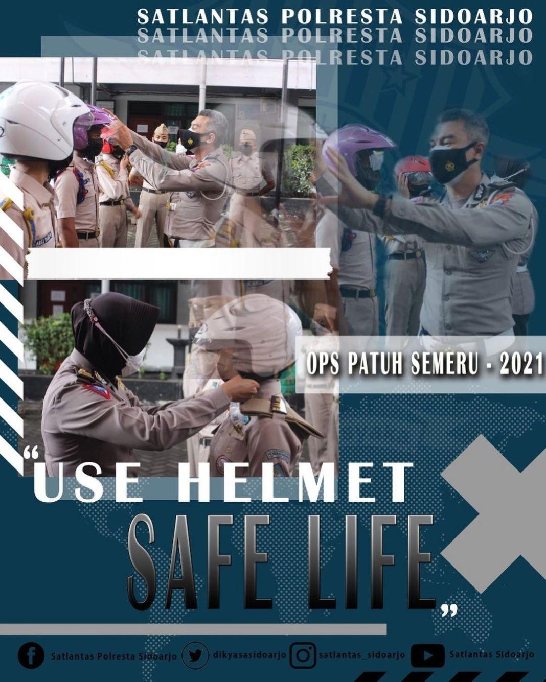 Selalu gunakan helm yang SNI saat mengendarai kendaraan bermotor, untuk mencegah terjadinnya ke…