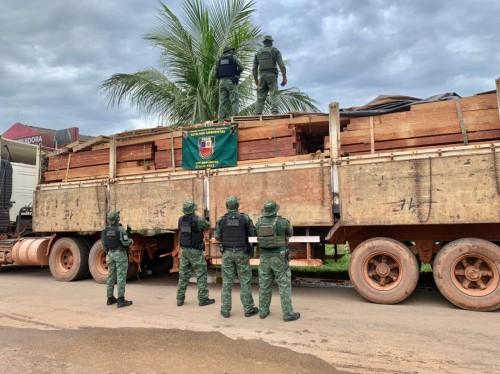Batalhão Ambiental apreende 40 metros cúbicos de madeira ilegal em Humaitá