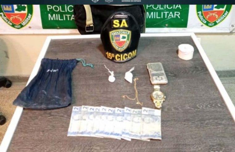 Polícia Militar detém homem com mandado de prisão em aberto envolvido com tráfico de drogas