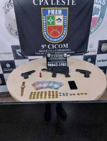 Em ações na zona leste, Polícia Militar detém indivíduos por roubo e tráfico de drogas