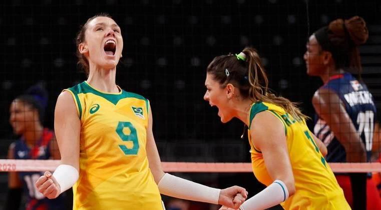 De virada, Brasil vence República Dominicana no vôlei feminino