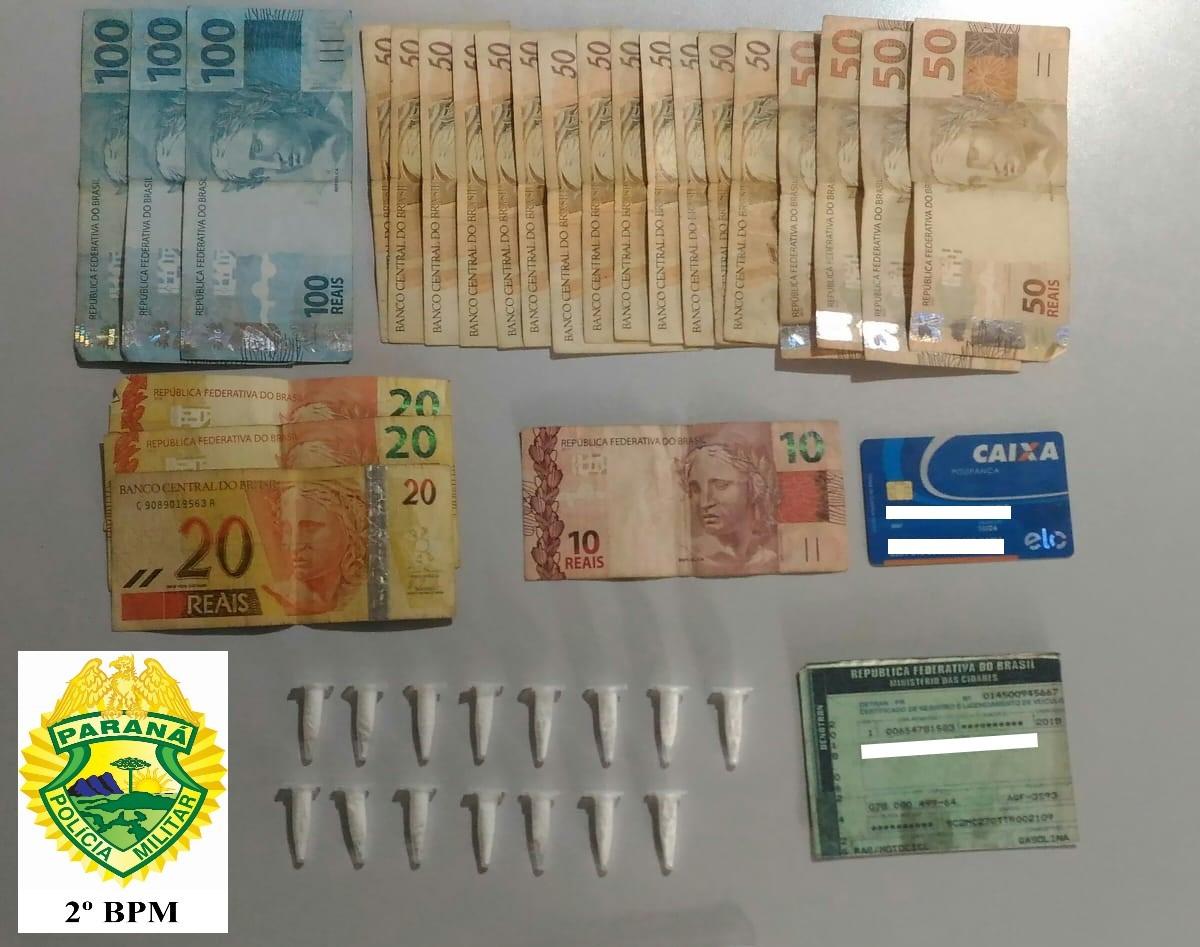Polícia Militar prende homem por tráfico de drogas no Jardim Panorama em Jacarezinho