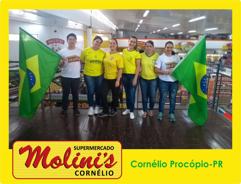 Rede Molini's se veste de verde e amarelo na Semana do Brasil