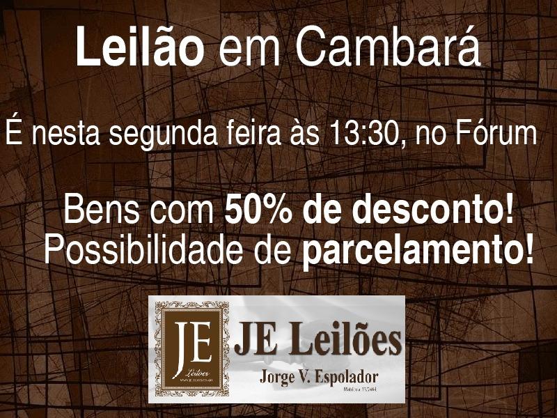 Cambará e Região: Leilão em Cambará será realizado nesta segunda feira!