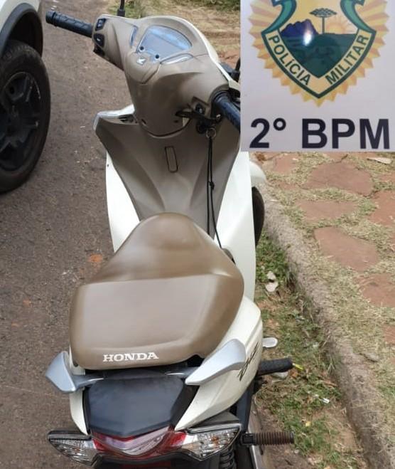 Polícia Militar recupera motoneta furtada na cidade de Ourinhos em Jacarezinho