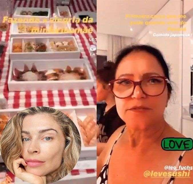 Grazi Massafera recebe a mãe em casa e mostra jantar especial: Fazendo a alegria dela