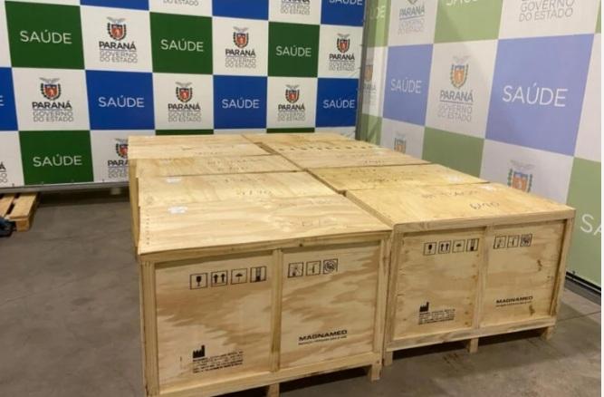 Paraná recebe doação de mais 15 respiradores com monitores