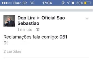 Facebook do Deputado Distrital Lira foi Invadido por Hackers
