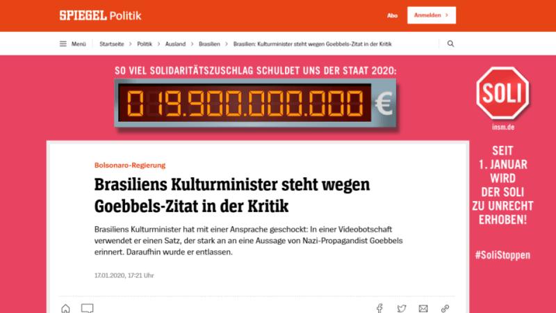 Der Spiegel Roberto Alvim Nazismo