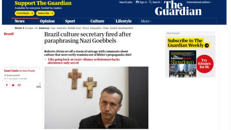 The Guardian Roberto Alvim Nazismo