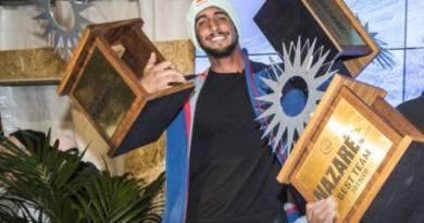 WSL: Lucas Chumbo, do BBB 20, vence torneio de surfe em Portugal