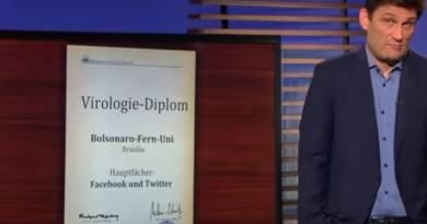 Covid 19: Emissora de televisão pública da Alemanha ironiza Bolsonaro