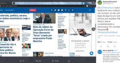 Bolsonaristas lançam campanha contra movimento anti fake news