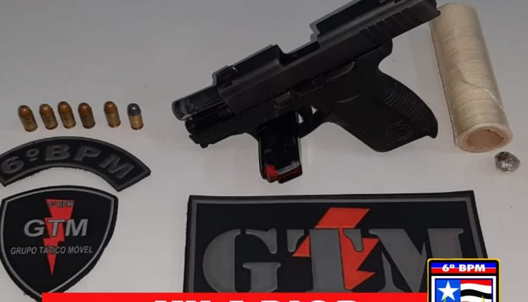 Adolescente é apreendido por posse irregular de arma de fogo