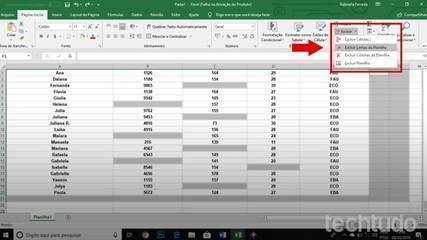 Como excluir todas as linhas em branco no Excel de uma vez