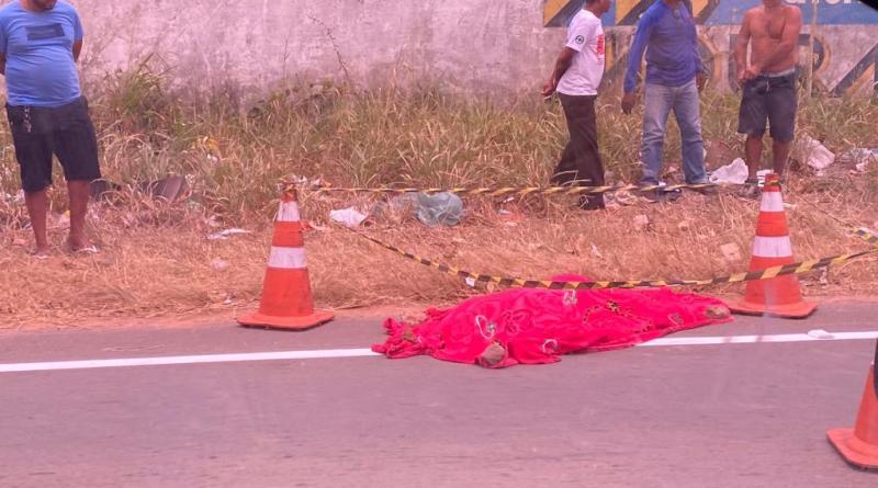 Grave acidente por atropelamento na estrada MA-204 deixa uma pessoa morta