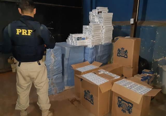 72 toneladas de cigarros contrabandeados são destruídos no Maranhão