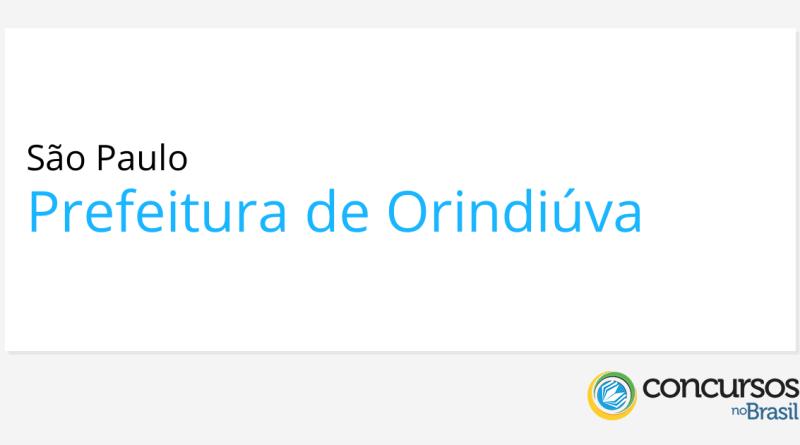Concurso Prefeitura de Orindiúva   SP: provas remarcadas!