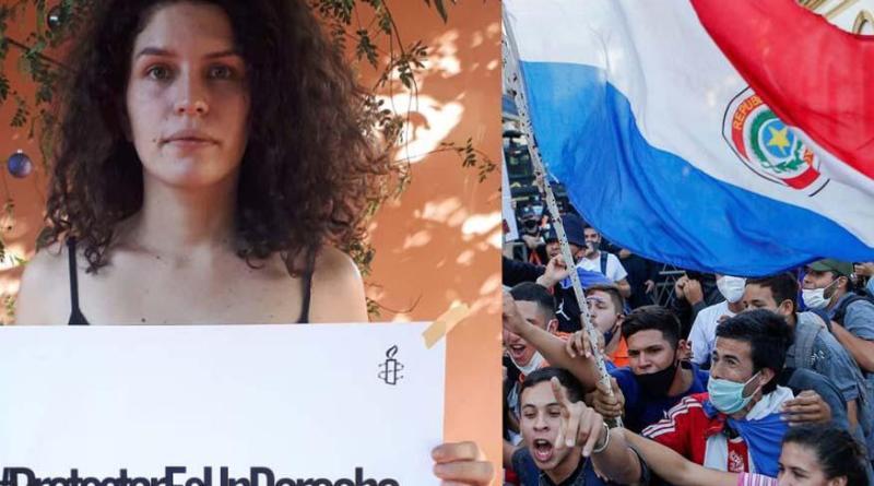 """Em prisão domiciliar, líder estudantil paraguaia denuncia """"crimes do governo"""""""
