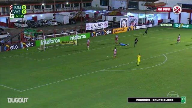 Veja os gols da vitória do Vasco sobre o Tombense na Copa do Brasil