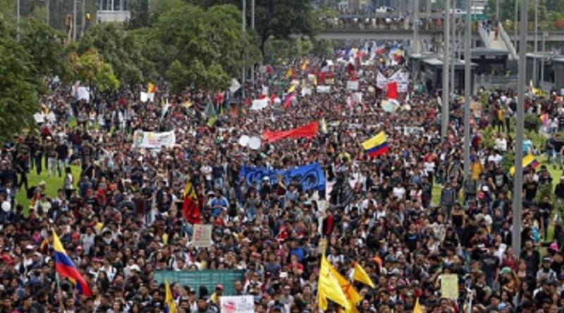"Marcha Patriótica: ""Colômbia de pé contra a política de extermínio de Duque"""